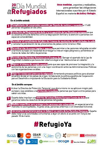 Día Mundial de los Refugiados Manifiesto
